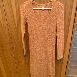 Sunset Ribbed Knit Maxi Dress Size xs